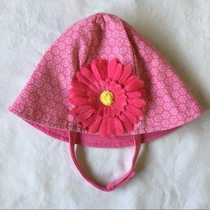 Girls sunhat size 6 12 months pink flower beach